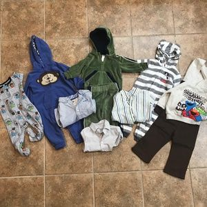 Large Lot of 12 Month Clothing for Boys, 10 Pieces